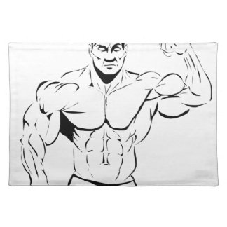 body-building placemat