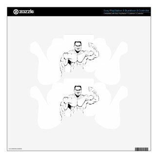 body-building PS3 controller skins