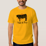 Body by Beef! Funny  Beef Cuts Butcher Chart T-shirt