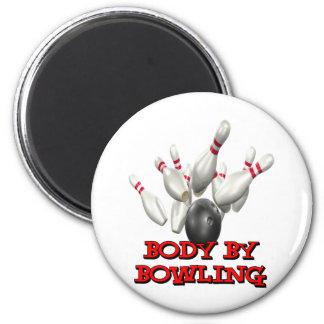 Body By Bowling Fridge Magnet