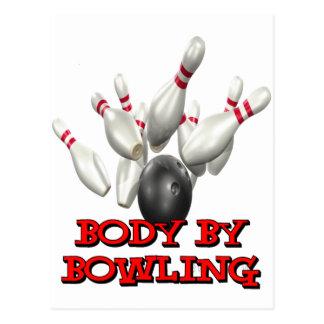 Body By Bowling Postcard