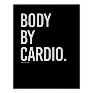 Body by cardio -   Girl Fitness -.png Poster
