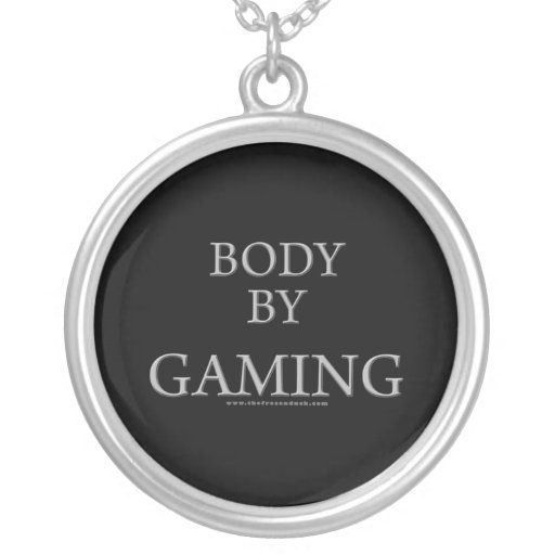 Body By Gaming Round Pendant Necklace