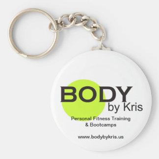 Body by Kris Logo Merchandise Basic Round Button Keychain