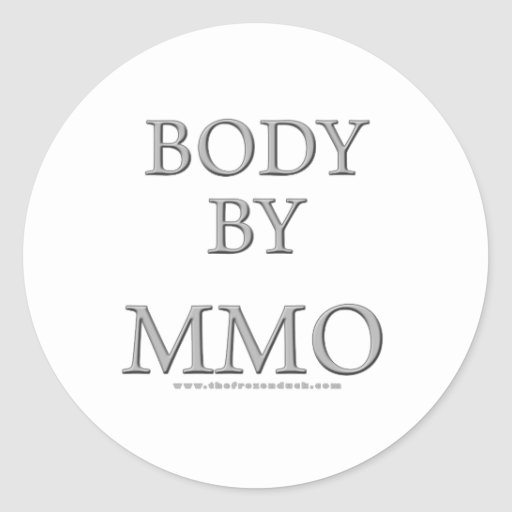 Body By MMO Round Stickers