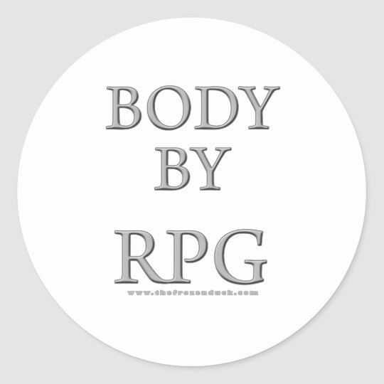 Body By RPG Classic Round Sticker