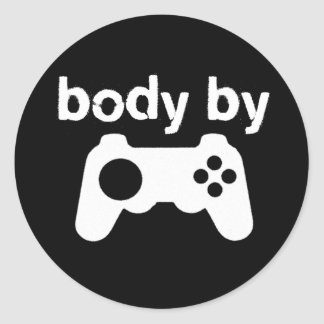 Body By Video Games Classic Round Sticker