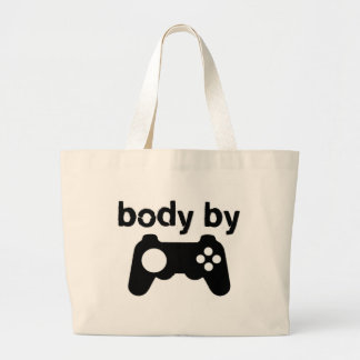 Body By Video Games Large Tote Bag