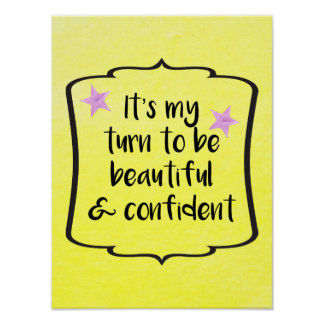 Body Confidence Motivational Inspirational Quote Poster