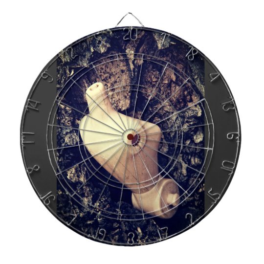 body in the woods dartboard with darts