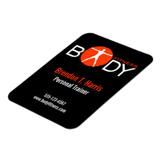 Body Madness Black Personal Trainer Flexi Magnets