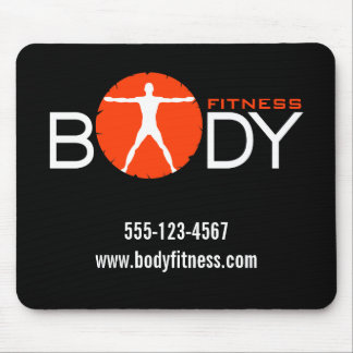 Body Madness Black Personal Trainer Mouse Pads