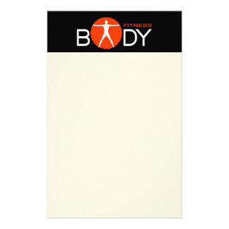 Body Madness Black Personal Trainer Stationery