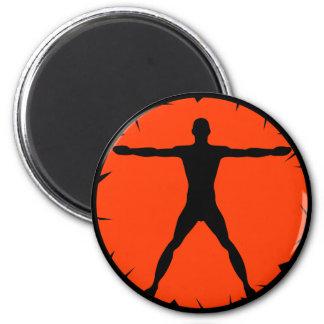 Body Madness BlaFitness Black Orange Round Magnet