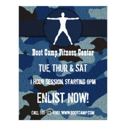 Body Madness Blue Cloth Camo Boot Camp Flyers