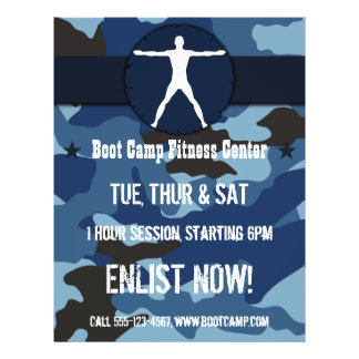 Body Madness Dark Blue Camo Boot Camp Flyers
