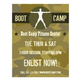 Body Madness Dark Green Camo Boot Camp Flyers