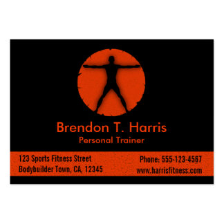 Body Madness Fitness Instructor Large Biz Card Large Business Cards (Pack Of 100)