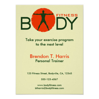 Body Madness Fitness Perosnal Trainer Posters Poster