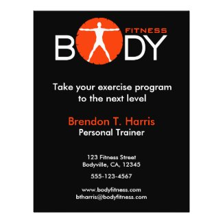 Body Madness Fitness Personal Trainer Flyers