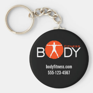 Body Madness Fitness Personal Trainer Key Rings Basic Round Button Keychain