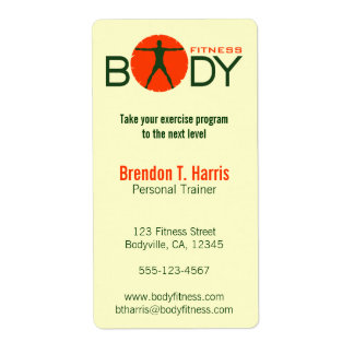 Body Madness Fitness Personal Trainer Large Labels