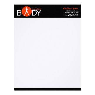 Body Madness Fitness Personal Trainer Letterhead Letterhead