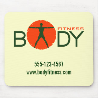 Body Madness Fitness Personal Trainer Mouse Pads Mousepads
