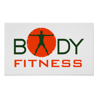 Body Madness Fitness Personal Trainer Posters Poster