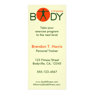 Body Madness Fitness Personal Trainer Rack Cards