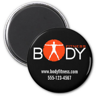 Body Madness Fitness Personal Trainer Round Magnet