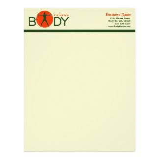 Body Madness Fitness Trainer Letterhead
