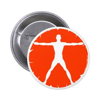 Body Madness Fitness Vitruvian Man Round Button Buttons