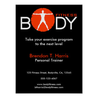 Body Madness Gym Coach Fitness Instructor Posters