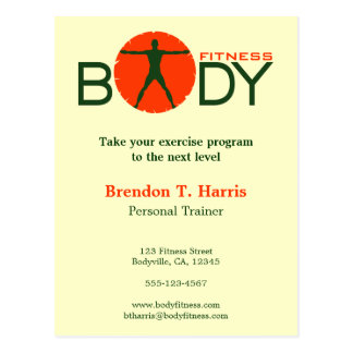 Body Madness Gym Personal Trainer Postcards