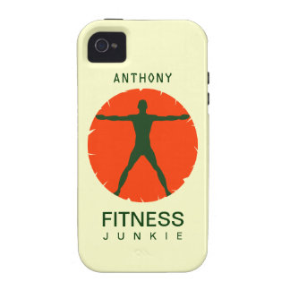 Body Madness Health Fitness Junkie iPhone4 Cases Vibe iPhone 4 Case