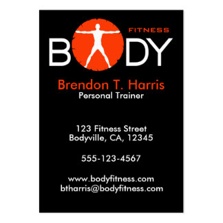 Body Madness Large Personal Trainer Business Cards