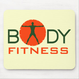 Body Madness Orange Fitness Gym Junkie Mouse Pads