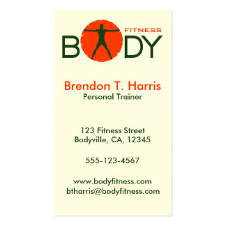 Body Madness Personal Trainer Business Cards Business Card