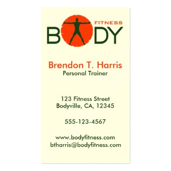 Body Fitness Personal Trainer Business Card profilecard