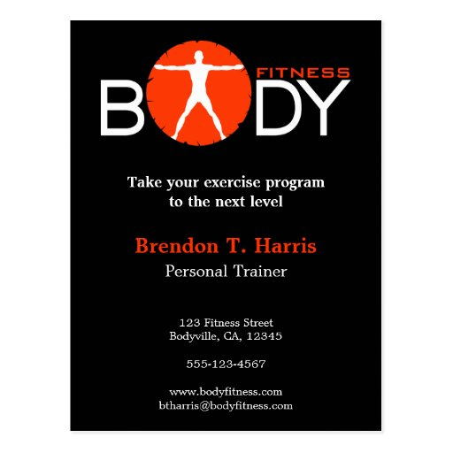 Body Madness Personal Trainer Postcards Postcard