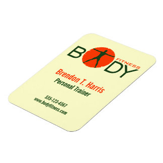 Body Madness Personal Trainer Small Flexi Magnet Rectangle Magnets