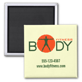 Body Madness Personal Trainer Square Magnets Magnets