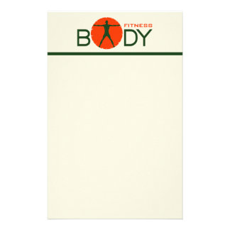 Body Madness Personal Trainer Stationery Paper Customized Stationery