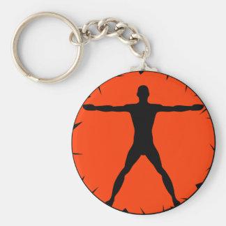 Body Madness Vitruvian Man Classic Round Key Chain Keychains