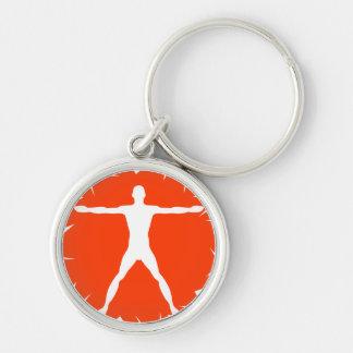 Body Madness Vitruvian Man Premium Round Key Chain Key Chains
