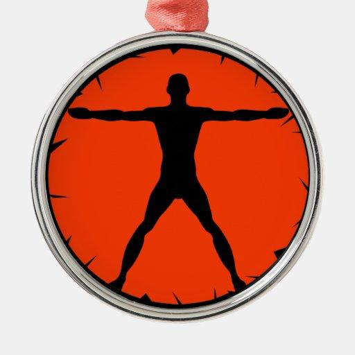 Body Madness Vitruvian Man Premium Round Ornament