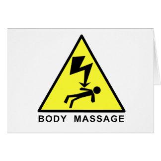 Body Massage Sign Card