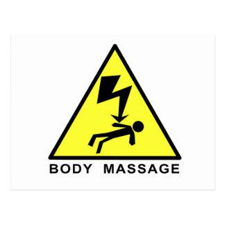 Body Massage Sign Postcard