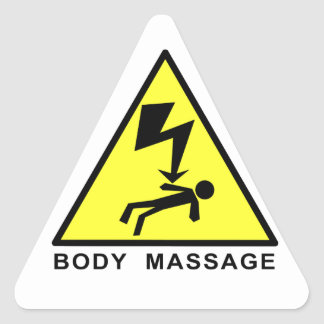 Body Massage Sign Triangle Stickers